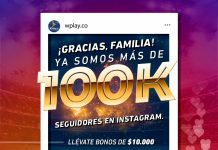 sorteo Instagram Wplay.co 100K